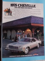 1975 CHEVELLE - Chevrolet Makes Sense For America - 16 Pages January 1975 ( Zie Foto´s Voor Detail ) ! - Cars