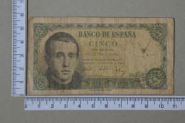 SPAIN 5 PESETAS 1951 -     2 SCANS - (Nº16972) - [ 3] 1936-1975 : Régence De Franco