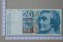 SWITZERLAND 20 FRANKEN 1978 -     2 SCANS - (Nº16976) - Schweiz