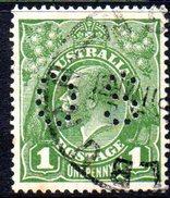 T1874 - AUSTRALIA , Official Stampa Gibbons N. O89 Wmk 7 P.14 Usato .
