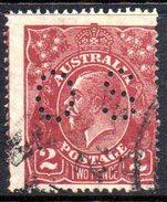 T1875 - AUSTRALIA , Official Stampa Gibbons N. O92 Wmk 7 P.14 Usato .