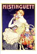 Affiche Sur Carte Postale - Mistinguett (Zig) - Publicité