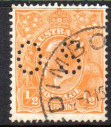 T1876 - AUSTRALIA , Official Stampa Gibbons N. O97 Wmk 7 P.13 1/2x12 1/2 Usato .