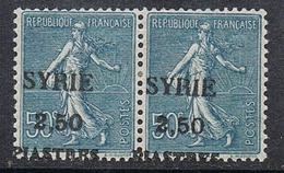 SYRIE N°113 N** En Paire Avec Variété Surcharge à Cheval - Syria (1919-1945)