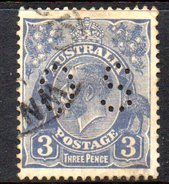 T1879 - AUSTRALIA , Official Stamps Gibbons106  Wmk 7 P.13 1/2x12 1/2 Usato .