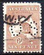 T1880 - AUSTRALIA , Official Stamps Gibbons114  Wmk 7 P.12 Usato .