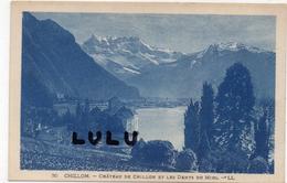 SUISSE : Veytaux , Chateau De Chillon Et Les Dents Du Midi - VD Vaud