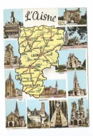 02/ AISNE... Département De L´AISNE: SAINT QUENTIN, LA FERE, VERVINS, MARLE, HIRSON, SOISSONS, CHAUNY, ANIZY, LAON, - Frankreich