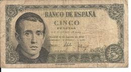 ESPAGNE 5 PESETAS 1951 VG+ P 140 - [ 3] 1936-1975 : Regime Di Franco