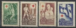 FINLANDE N° 225 à 228 Neuf Avec Charnière Année 1941