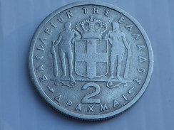 Grèce 2 Drachmes  1954  KM# 82       Paul I  TB  CUPRONICKEL - Griekenland