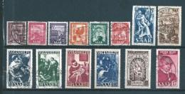 Timbres De Sarre De 1949/50 N°255 A 268     Oblitérés ( 3 Timbres Neufs *)  Cote 151€ - Zona Francese