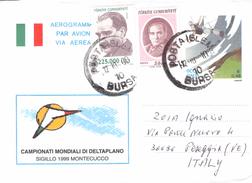 ITALY - AEROGRAMME 900L TURKEY -> PESEGGIA 2000 - Entiers Postaux