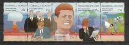 Hommage Au Président Kennedy, Feuille Entière Des ILES MARSHALL.  Yvert 202/06.