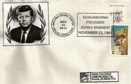 50 Ieme Anniversaire De La Disparition Du President John F.Kennedy. Dallas TX 22 Nov.2103, Lettre Adressée En Floride