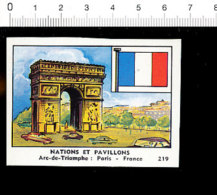 Chromo Image Chocolaterie De L´Union / France Paris Arc De Triomphe Drapeau Flag / IM 121/1 - Cigarette Cards