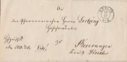 Preussen Brief K2 Berlin 16.12 Gel. Nach Beverungen Bpst. L3 Berlin-Minden Und Minden-Deutz - Preussen