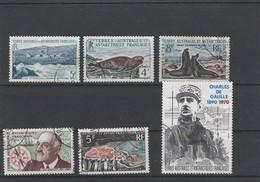 LOT 164 TAAF N°4-13B-13C-19-20-PA N°118 OBLITERE - Colecciones & Series