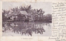 Philippines Manila Typical Native Hut Along A Canal 1903 - Philippines