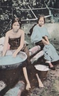 Philippines Beautiful Young Native Girls Washing Clothes - Philippines