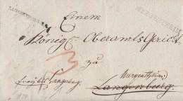 Brief L1 Langenburg R3 Und L1 Mergentheim Von 1824 - Deutschland