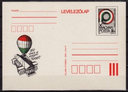 Pencil - Hot Air Balloon / Museum / 100th Anniv. Of Hungarian Poster Placard - 1986 HUNGARY - STATIONERY POSTCARD