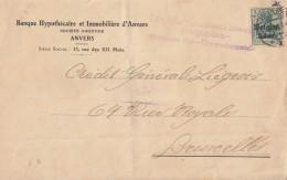 Dt. Besetzung Belgien Brief EF Minr.12 Antwerpen Zensur - Besetzungen 1914-18