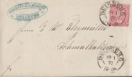 NDP Brief EF Minr.16 K2 Duisburg 19.1.70 - Norddeutscher Postbezirk