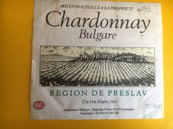 2594 - Bulgarie Chardonnay Région De Preslav - Etiquettes