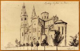 12 / RODEZ - Eglise Du Sacré-Coeur (dessin De Gérard Plouvier) - Rodez