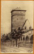 12 / RODEZ - Cour De L'Evêché (dessin De Gérard Plouvier) - Rodez