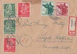 DR R-Brief Mif Minr.2x 894,2x 895,897,898 Zurndorf 6.11.44 - Deutschland