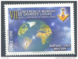 103 CHILI 2004 - Masonic Franc Maconnerie Loge Lodge - Neuf ** Sans Charniere MNH - Massoneria