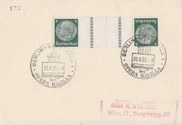 DR Karte Zdr. Minr.KZ23 SST Berlin-Grunewald 20.6.37 Sportlager Der Opera Balilla - Deutschland