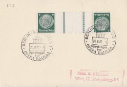 DR Karte Zdr. Minr.KZ23 SST Berlin-Grunewald 20.6.37 Sportlager Der Opera Balilla - Briefe U. Dokumente