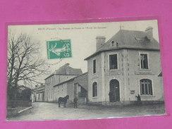 BRUX   / ARDT MONTMORILLON  1910 LA POSTE ET L ECOLE   EDIT   CIRC  OUI - Other Municipalities