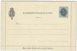 Denmark 1890 Lettercard - 1864-04 (Christian IX)