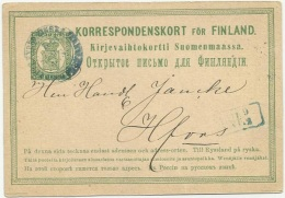 Finland 1874 Russian Administration - Sent To Helsinki - Covers & Documents