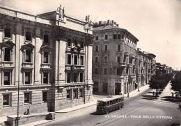 """05090 """"ANCONA - VIALE DELLA VITTORIA"""" ANIMATA, FILOBUS. CART.  SPED. 1955 - Ancona"""