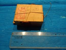 Boite D´expedition Bijoutier 6.5 Cm X 5 Cm Environ 4 Cachets De Cire - Jewels & Clocks