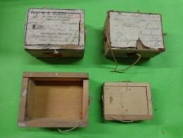 4 Boites D´expedition Bijoutier  Cachets De Cire +ficelle+ Timbre Mention CHARGE - Jewels & Clocks