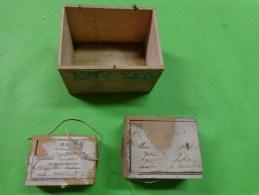 3 Boite D´expedition Bijoutier  Cachets De Cire +ficelle+ Timbre - Jewels & Clocks