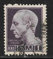Italy, Scott # 455 Used Julius Caesar, 1945 - 5. 1944-46 Lieutenance & Umberto II