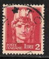 """Italy, Scott # 452B Used """"Italia"""", 1945 - 5. 1944-46 Lieutenance & Umberto II"""