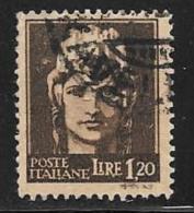 """Italy, Scott # 456 Used """"Italia"""", 1945 - 5. 1944-46 Lieutenance & Umberto II"""