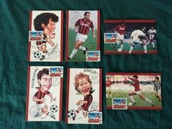 """Serie Di 6 Cartoline Giocatori Del Milan """"Rossoneri Card"""" Annullo 1° Giorno Milan Campione 1993-94 - Fútbol"""