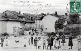 Cpa Apremont  ---  Rue Du Pave - Altri Comuni