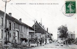 Cpa Apremont  ---  Place De La Mairie Et Rue De Chatel - Altri Comuni