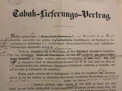 The Contract On The Sale Of Tobacco In 1864  Temisvar  *** Ugovor O Prodaji Duvana Temisvar - Rumänien
