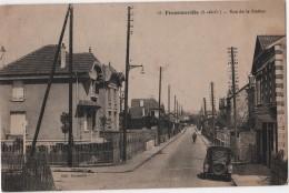 CPA 95 FRANCONVILLE RUE DE LA STATION - Franconville